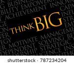 think big word cloud  business