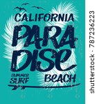 california vector design. surf... | Shutterstock .eps vector #787236223