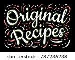 food poster print lettering.... | Shutterstock .eps vector #787236238