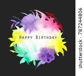 watercolor multicolor and... | Shutterstock . vector #787244806