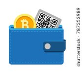 digital wallet icon with coins... | Shutterstock .eps vector #787253989