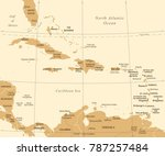 the caribbean map   vintage... | Shutterstock .eps vector #787257484