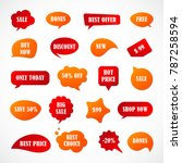 vector stickers  price tag ... | Shutterstock .eps vector #787258594
