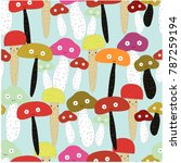 cute seamless pattern cartoon... | Shutterstock .eps vector #787259194