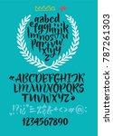 handwritten script font. brush... | Shutterstock .eps vector #787261303