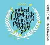 handwritten script font. brush... | Shutterstock .eps vector #787261306