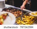 beautifully decorated catering... | Shutterstock . vector #787262584