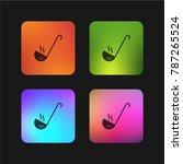 ladle four color gradient app... | Shutterstock .eps vector #787265524