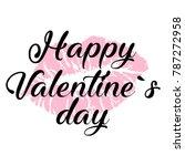 happy valentine's day card. set ... | Shutterstock .eps vector #787272958
