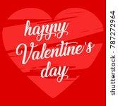 happy valentine's day card. set ... | Shutterstock .eps vector #787272964