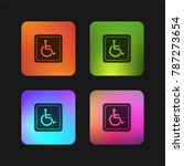 handicapped sign four color... | Shutterstock .eps vector #787273654