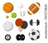 different sport objects... | Shutterstock .eps vector #787273828