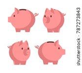 piggy bank. vector cartoon flat ...   Shutterstock .eps vector #787273843