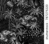 dark monotone vector tropical... | Shutterstock .eps vector #787275220