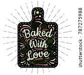 food poster print lettering.... | Shutterstock .eps vector #787275988