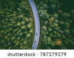aerial view of car driving... | Shutterstock . vector #787279279