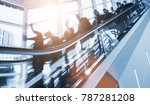 crowd of anonymous blurred... | Shutterstock . vector #787281208