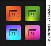 browser four color gradient app ...