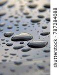 glistening dew drops  | Shutterstock . vector #787284088