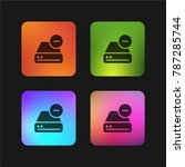 hard drive four color gradient...