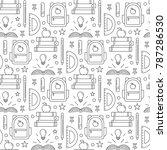 vector school pattern in trendy ...   Shutterstock .eps vector #787286530