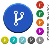 code fork round color beveled... | Shutterstock .eps vector #787287640