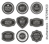 vector label quality on pack | Shutterstock .eps vector #787298923