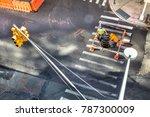 industrial scene from above of... | Shutterstock . vector #787300009