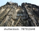gothic cathedral in koln in... | Shutterstock . vector #787312648