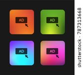 click ad four color gradient... | Shutterstock .eps vector #787313668