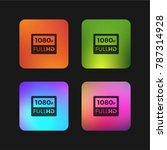 1080p full hd four color... | Shutterstock .eps vector #787314928