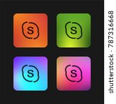 skype logo four color gradient... | Shutterstock .eps vector #787316668
