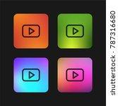 youtube logo four color... | Shutterstock .eps vector #787316680