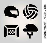 sport vector icon set. ball ... | Shutterstock .eps vector #787319188