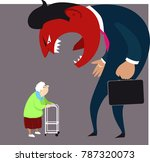 elder abuse  a monster man... | Shutterstock .eps vector #787320073