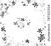 black and gray blots on a white ... | Shutterstock .eps vector #787322314