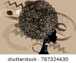 portrait african women   dark... | Shutterstock .eps vector #787324630