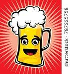 beer cartoon vector | Shutterstock .eps vector #787325758