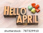 hello april in vintage... | Shutterstock . vector #787329910