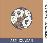 design element in art nouveau... | Shutterstock .eps vector #787332526
