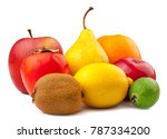 fruits on white background | Shutterstock . vector #787334200