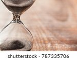 hourglass as time passing... | Shutterstock . vector #787335706