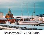 helsinki  finland. evening view ... | Shutterstock . vector #787338886