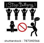 stop bullying no harassment in... | Shutterstock .eps vector #787340566