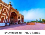 humayun's tomb in delhi  india. ... | Shutterstock . vector #787342888