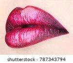 beauty sensual lips  beautiful... | Shutterstock . vector #787343794