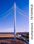 pylon of cable stayed bridge... | Shutterstock . vector #787349818