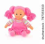 Pink Doll Isolated On White...