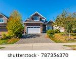 big custom made luxury house... | Shutterstock . vector #787356370