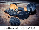Small photo of Open air hammer and nails